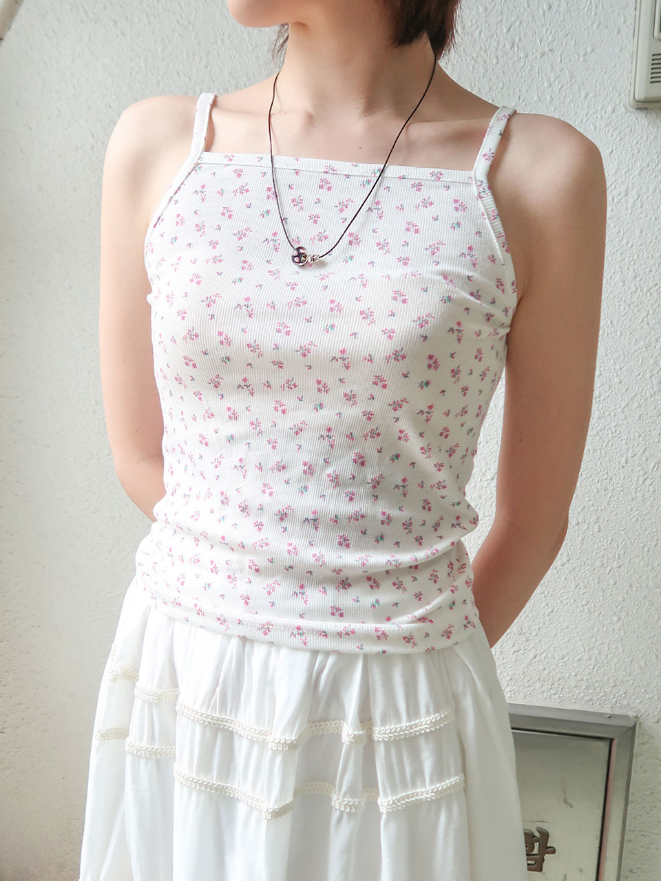 mini flower sleeveless(4color)