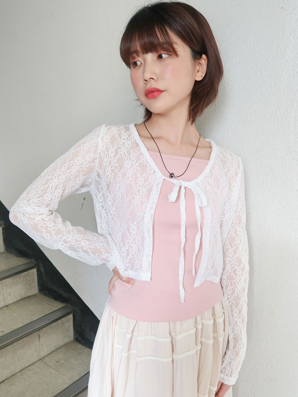 lace ribbon cardigan(3color)