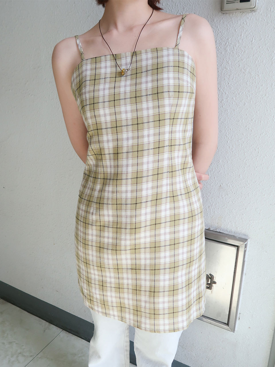mini check dress(3color)