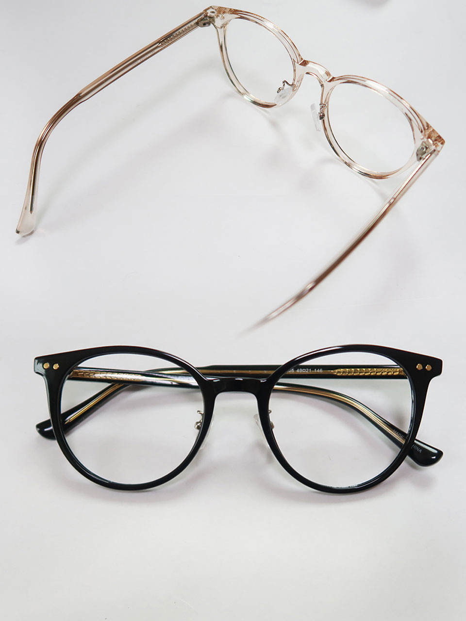 plain round glasses(2color)